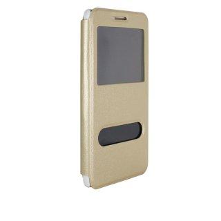 【Huawei GR5 手帳型ケース】 GauGau Huawei GR5 Smart Case  Gold/White (スタンド機能つき)