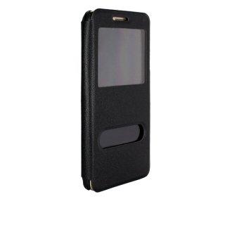 【Huawei GR5 手帳型ケース】 GauGau Huawei GR5 Smart Case  Black/Black (スタンド機能つき)