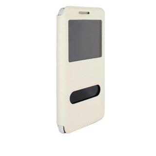 【Huawei GR5 手帳型ケース】 GauGau Huawei GR5 Smart Case  White/White (スタンド機能つき)