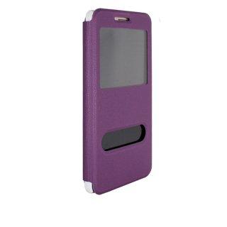 【Huawei GR5 手帳型ケース】 GauGau Huawei GR5 Smart Case  Purple/White (スタンド機能つき)