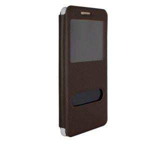 【Huawei GR5 手帳型ケース】 GauGau Huawei GR5 Smart Case Brown/White (スタンド機能つき)