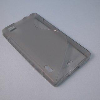 【シンプルなソフトケース】 GauGau au IS11LG / LG Optimus X Wave Soft Case  Clear Black