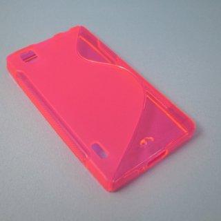 【シンプルなソフトケース】 GauGau au IS11LG / LG Optimus X Wave Soft Case  Clear Pink
