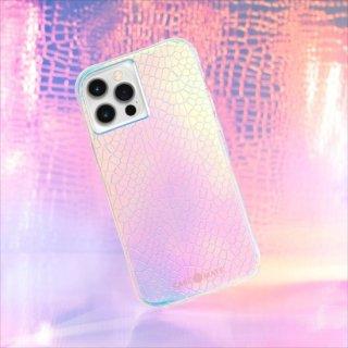 【虹色に輝くスネークスキンスタイルデザイン+抗菌仕様】iPhone 12 Pro Max Iridescent Snake w/ Micropel