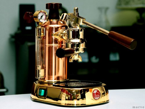 "la Pavoni ラ・パボーニ ""PROFESSIONAL"" PRG 銅&18金ボディ<img class='new_mark_img2' src='https://img.shop-pro.jp/img/new/icons16.gif' style='border:none;display:inline;margin:0px;padding:0px;width:auto;' />"