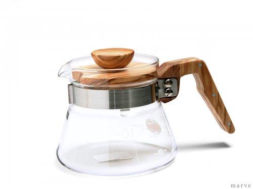 HARIO コーヒーサーバー400オリーブウッド(1〜3杯用)VCWN-40-OV