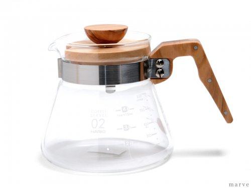 HARIO コーヒーサーバー600オリーブウッド(1〜5杯用) VCWN-60-OV