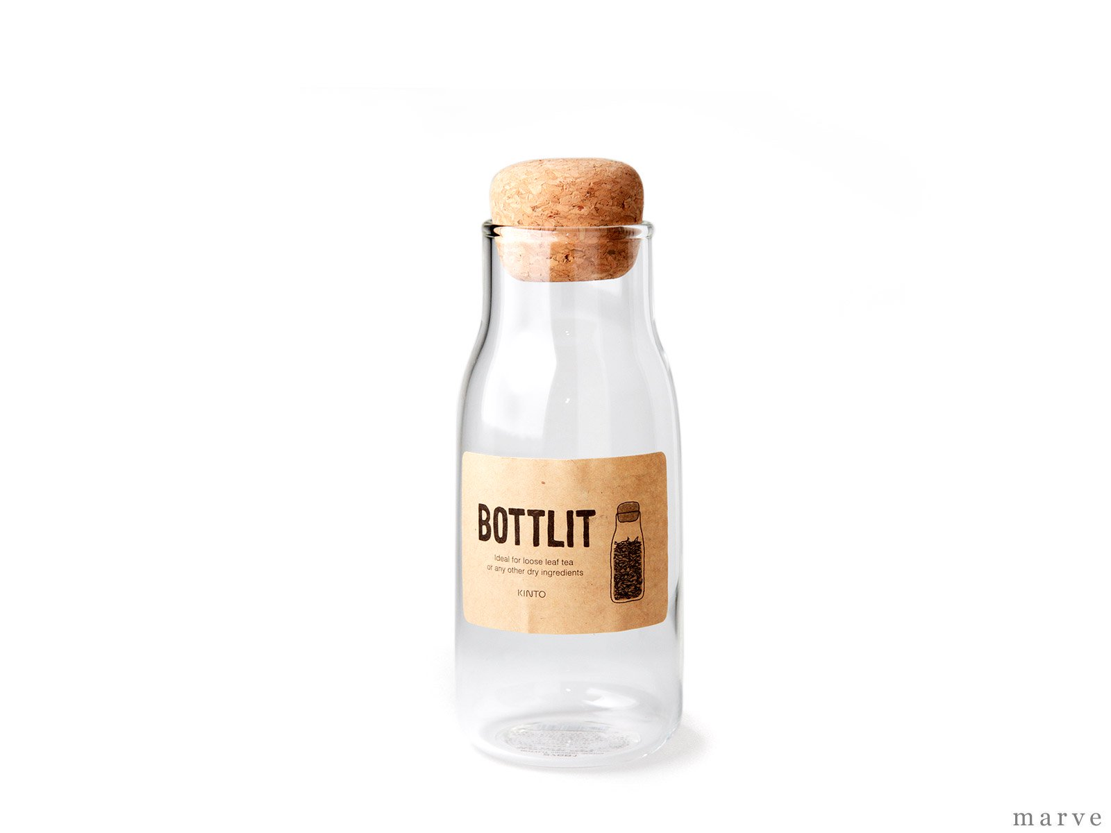 【OUTLET】BOTTLIT(ボトリット) ガラスキャニスター 300ml<img class='new_mark_img2' src='https://img.shop-pro.jp/img/new/icons16.gif' style='border:none;display:inline;margin:0px;padding:0px;width:auto;' />