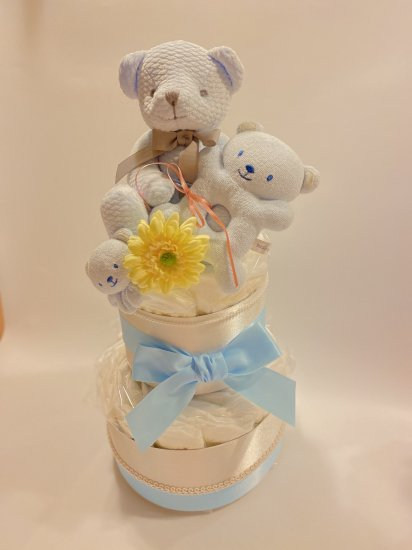 2段ダイパーケーキ  Happy 3 bear