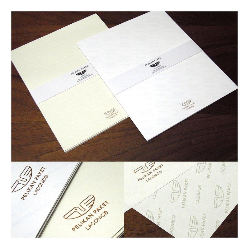 PELIKAN PAKET 便箋セット(10枚入)【ベージュ】LTW17-38BE
