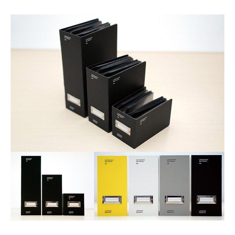 STOCK 名刺ファイル 3段(360ポケット)【ブラック】LSK07-180BK