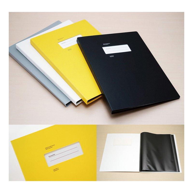 STOCK 20ポケットA4クリアファイル【ブラック】LSK08-130BK