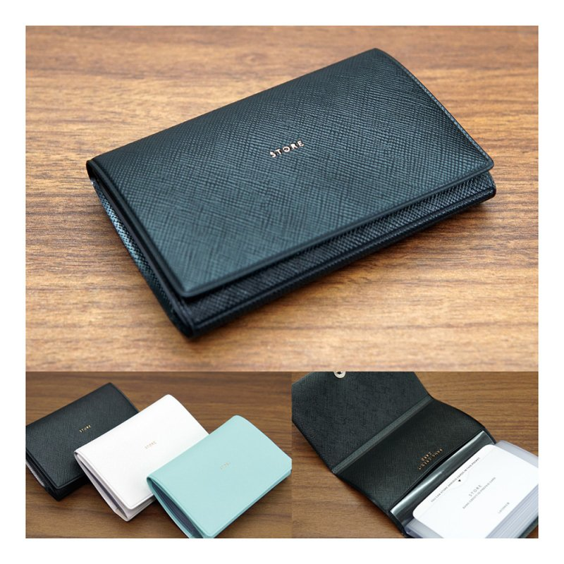 ADELE カードケース(10ポケット)【ブラック】LBW05-120BK