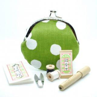 がま口裁縫セット(抹茶白玉)