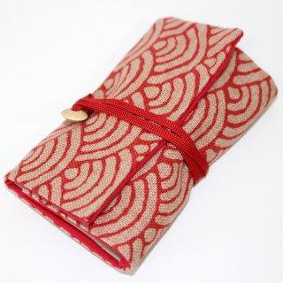 裁縫セット(赤青海波)