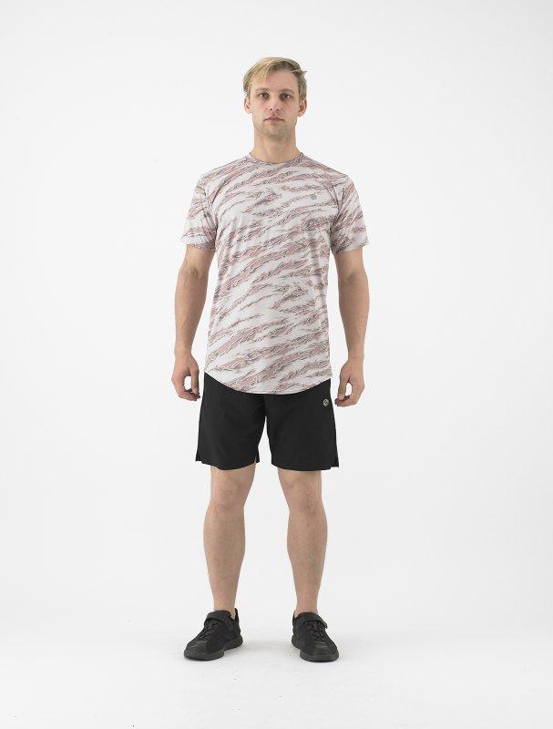 PERFORMANCE TEE/昇華Tシャツ 総柄 胸シートワンポイント