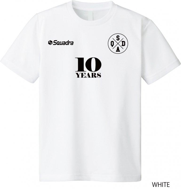 [SQUADRA]10周年記念Tシャツ/【販売した売上の20%を、スポーツをする子供たちへの基金として積み立てます。】