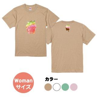 いちごデザインTシャツ(Womanサイズ)