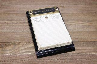 Bakelite Desk Top Calendar & Memo Pad