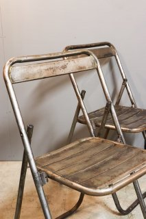 French military Metal Folding Chair