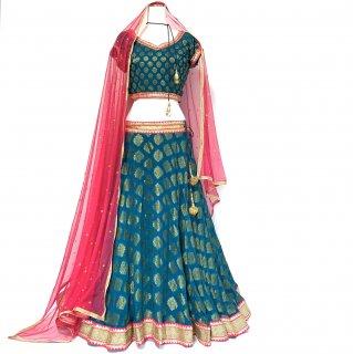 レヘンガ / Lehenga ◆◇ インド 民族衣装 ダンス衣装 ボリウッド インドフュージョンダンス インド舞踊