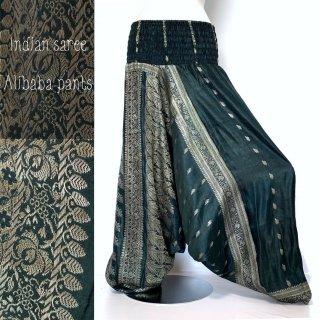 <送料無料>インドサリー アリババ パンツ #01 サルエル ◆ シルクサリー ボヘミアン