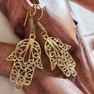 真鍮ピアス《ハムサ》アラビアン*エジプト*ベリーダンス