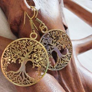 真鍮ピアス《tree of life》アラビアン*エジプト*ベリーダンス