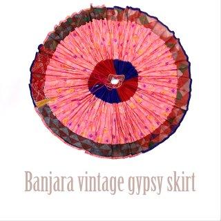 Banjara gypsy skirt #4 vintage * ラジャスタンバンジャラスカート《ピンク》フルサーキュラー