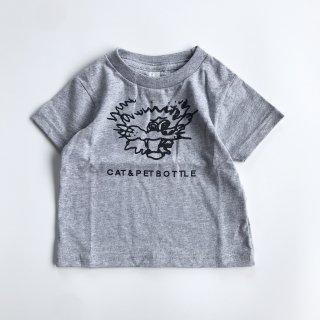 SPUT performance / CAT&PETBOTTLE Kids T-shirt(Afraid)- gray
