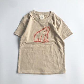 shirokuma / shirokuma Logo Kids T-shirt - light beige