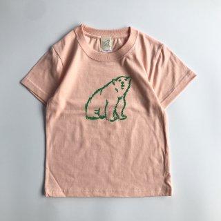 shirokuma / shirokuma Logo Kids T-shirt - apricot