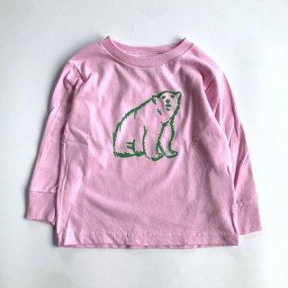 shirokuma / shirokuma  Logo Kids LS T-shirt - light pink