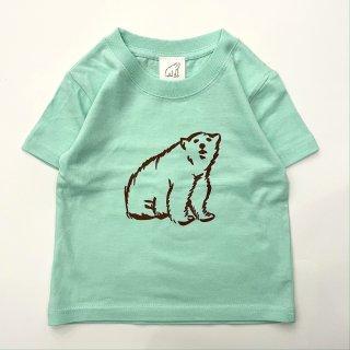 shirokuma / shirokuma Logo Kids T-shirt - mint
