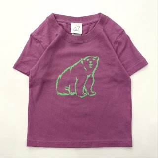 shirokuma / shirokuma Logo Kids T-shirt - lavender