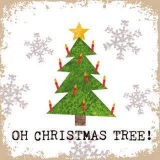 ペーパーナプキン(33)ppd:(5枚)Oh Christmas Tree!-PP115