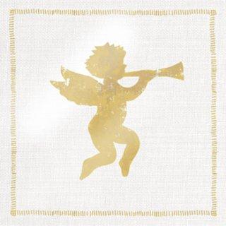 ペーパーナプキン(33)ppd:(5枚)Angel Fashion gold-PP124