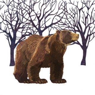 ペーパーナプキン(33)ppd:(5枚)Winter Bear-PP134