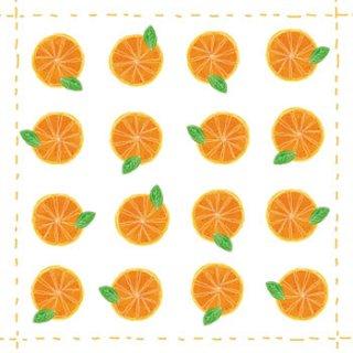 ペーパーナプキン(33)ppd:(5枚)Orange allover-PP162