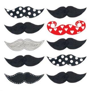ペーパーナプキン(33)ppd:(5枚)Les Moustaches-PP163