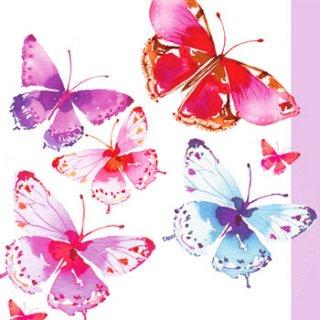 ペーパーナプキン(33)ppd:(5枚)Aquarell Butterflies-PP172