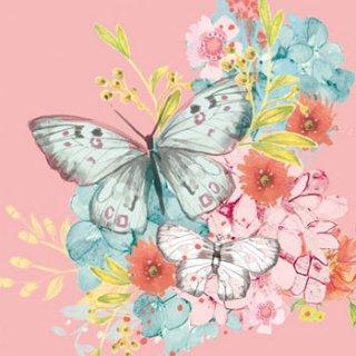 ペーパーナプキン(33)ppd:(5枚)Louise Butterfly-PP175