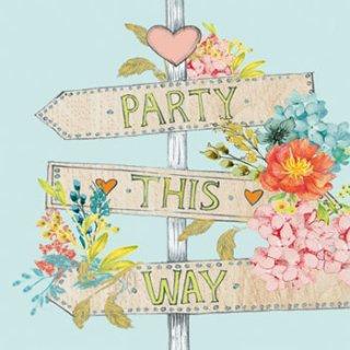 ペーパーナプキン(33)ppd:(5枚)Party This Way-PP205