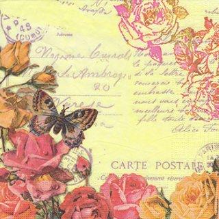ペーパーナプキン(33)ppd:(5枚)Vintage Butterflies-PP230