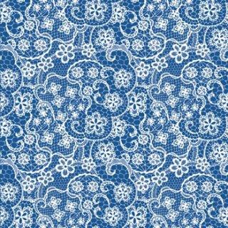ペーパーナプキン(33)ppd:(5枚)Linen Lace indigo-PP268