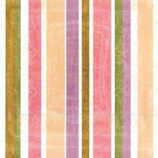ペーパーナプキン(33)ppd:(5枚)Stripes blush-PP275