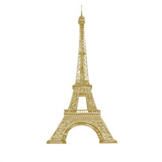ペーパーナプキン(33)ppd:(5枚)Paris Style gold-PP286