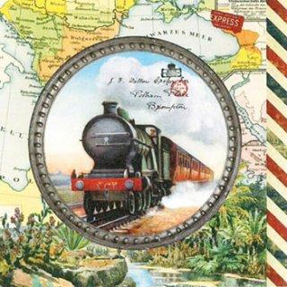 ペーパーナプキン(33)ppd:(5枚)Travel Engine(汽車)-PP299