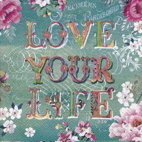ペーパーナプキン(25)PS:(5枚)LOVE YOUR LIFE-PS22(25)