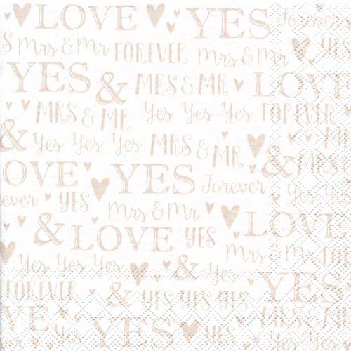 ペーパーナプキン(33)StewoAG:(5枚)Delvin(LOVE YES)-ST87